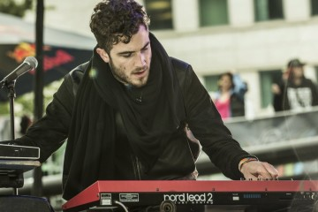 Nicolas Jaar performs on the Red Bull Music Academy Stage, on the third day of Movement, in Detroit, MI, USA, on 27 May 2013. // Carlo Cruz/Red Bull Content Pool // P-20130528-00304 // Usage for editorial use only // Please go to www.redbullcontentpool.com for further information. //